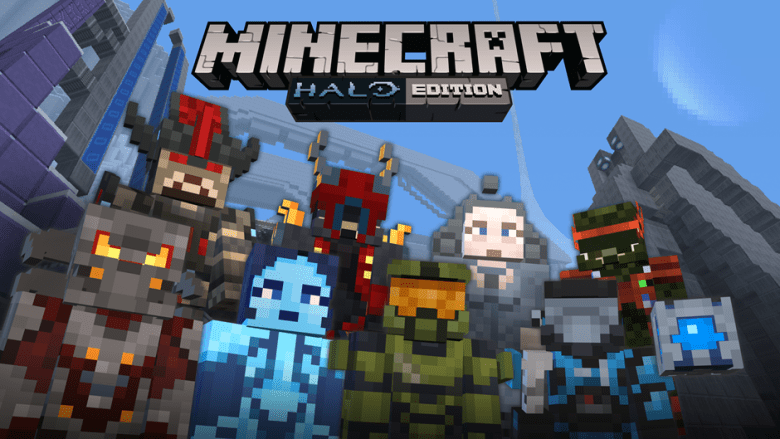 Minecraft: Xbox 360 Edition will get 40 Halo-themed skins as well as music and menus based on the popular shooter.