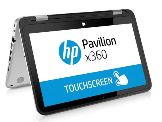 HP Pavilion x360 laptop-tablet hybrid.