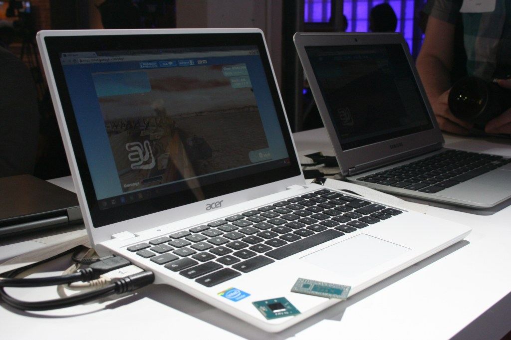 The Acer C720P Chromebook, which includes a fourth-generation Intel Core i3 chip.