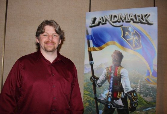 Terry Michaels, game designer for Landmark