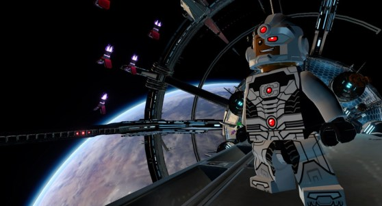 A cyborg in Lego Batman 3: Beyond Gotham