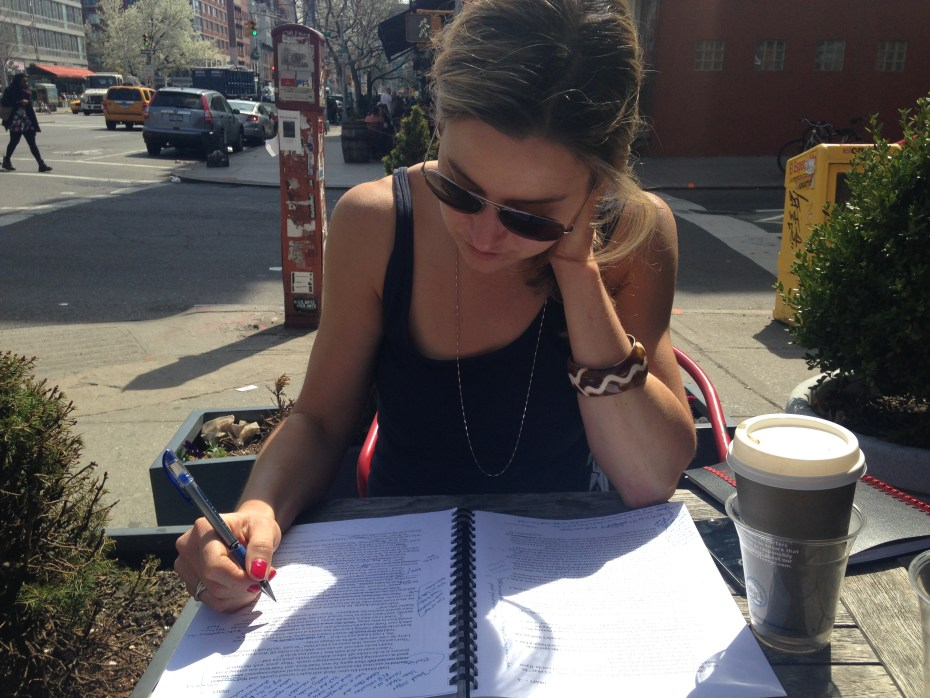 Michelle Miller, author and creator of the Underwriting, working on the novel