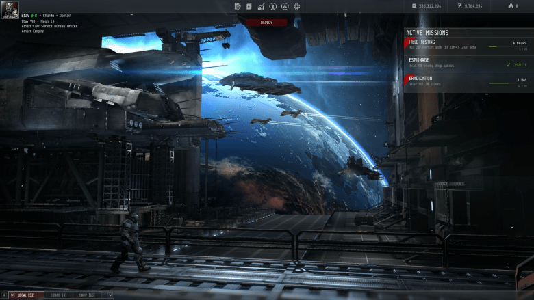A screenshot from Project Legion. It features a similar menu system to Dust 514.