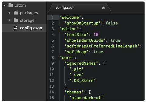GitHub Atom text editor