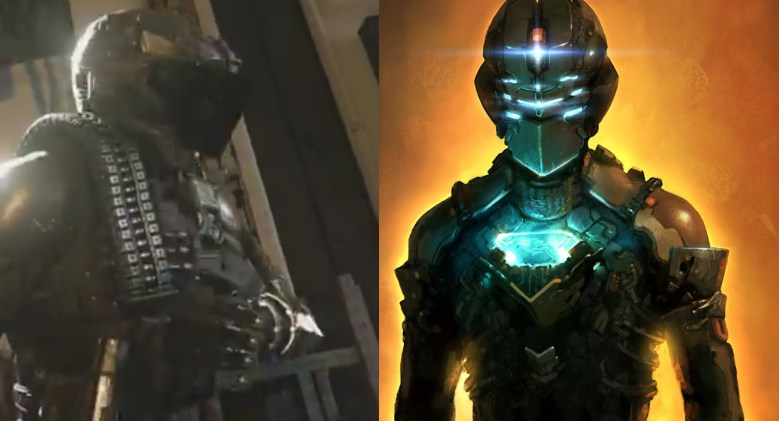 Both the Advanced Warfare guy and Dead Space's Isaac have some pointy helmets.