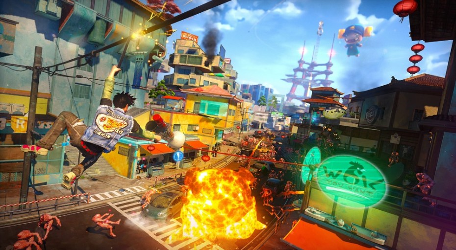 Action from Sunset Overdrive.