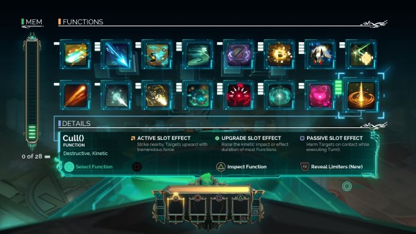 All of the abilities you can unlock and use in Transistor.