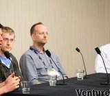 Jay Kreps ofLinkedIn, Peter Reinhardt of Segment.io, Graham Tackley of Guardian News & Media, Aber Whitcomb of SGN