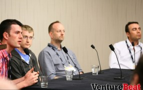 Jay Kreps ofLinkedIn, Peter Reinhardt of Segment.io, Graham Tackley of Guardian News & Media, Aber Whitcomb of SGN