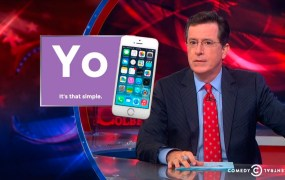 Colbert Report segment on Yo app