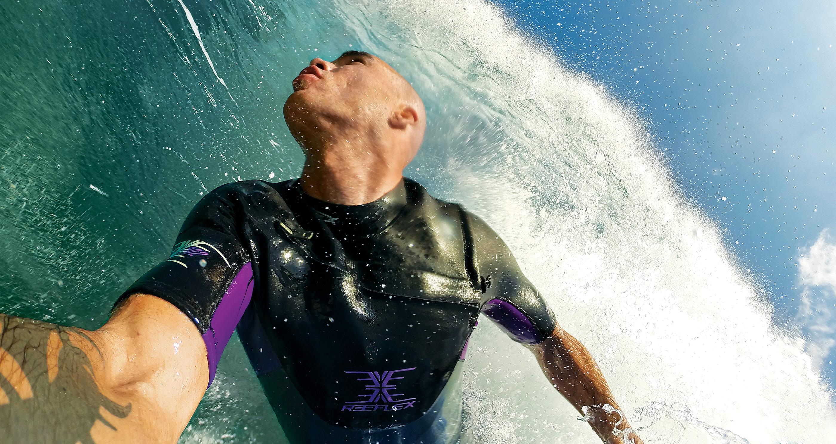 GoPro surfing