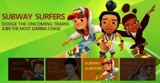 iDreamSky Subway Surfers promo