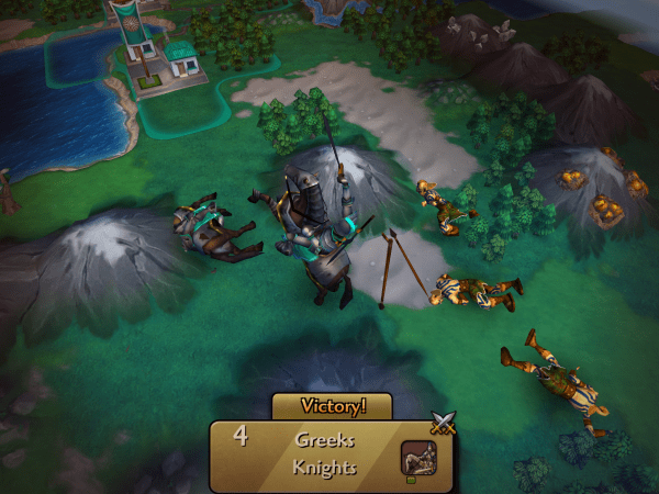 CivRev 2 in action for iOS.
