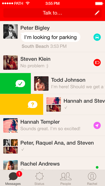 The now-separate Path messaging app, Talk