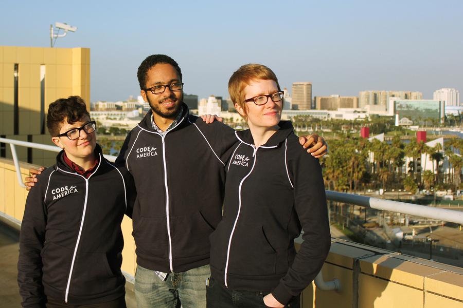 Team Long Beach members Rhys Fureigh, Dan Getelman, and Molly McLeod