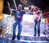 """GamesBeat editor-in-chief Dan """"Shoe"""" Hsu celebrates our one and only Street Fighter win."""