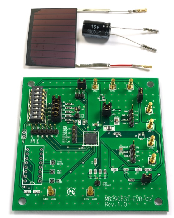Spansion energy harvesting boards