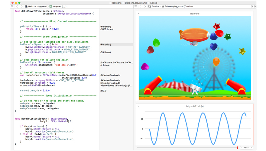 "A look at Swift's ""Playground"" development environment."