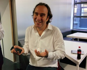 Free founder Xavier Niel, speaking at Ecole 42, the free engineering school he created.