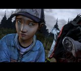 Clementine dispatches a walker in The Walking Dead Season 2, Episode 4: Amid the Ruins.