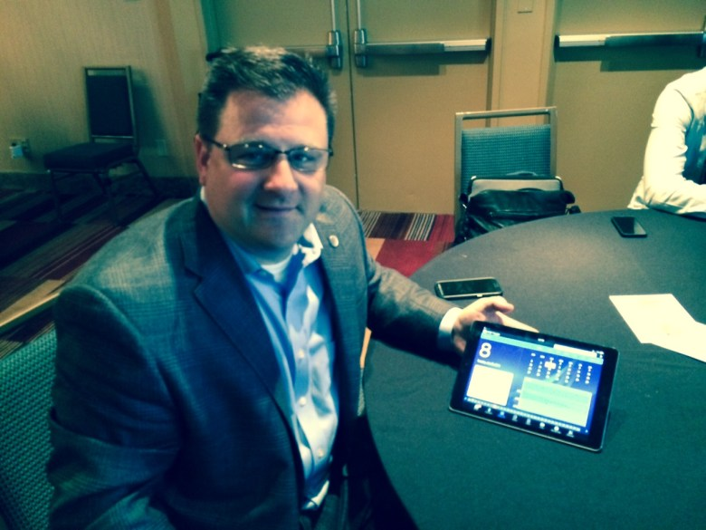 AT&T's Mike Troiano illustrates Toggle on an iPad