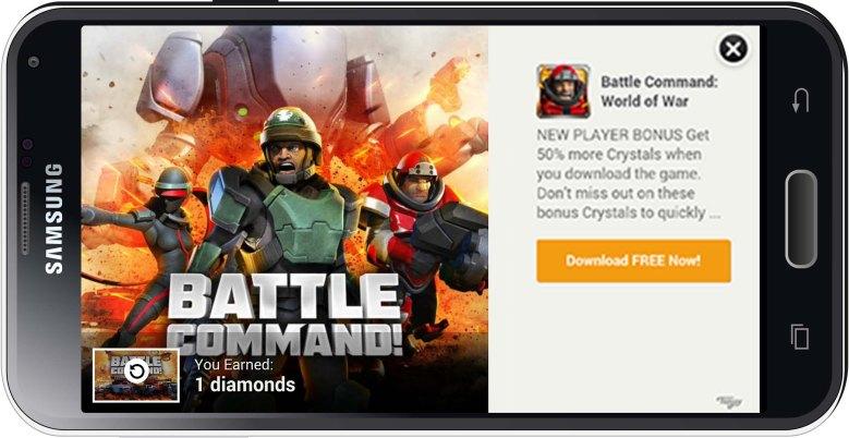 Tapjoy provides reward-based ads for mobile games.