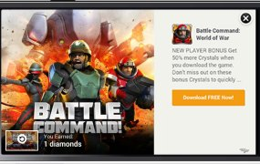 Tapjoy provides reward-based ads for mobile games.