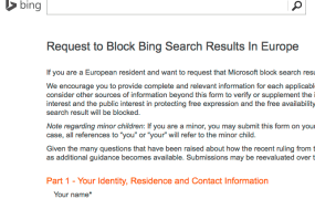 The new Bing request for forgetfulness