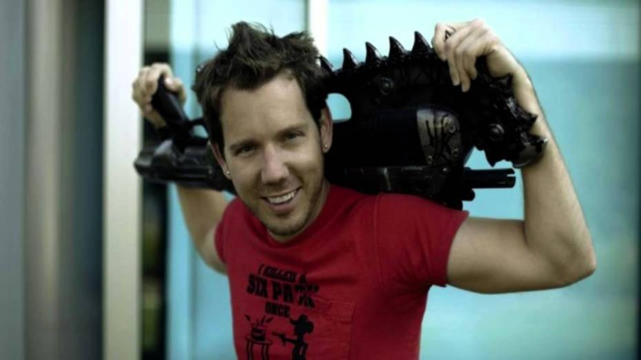 Cliff Bleszinski during his time with Epic Games.