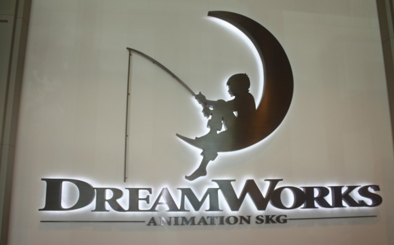DreamWorks Animation sign at Redwood City, Calif. campus.