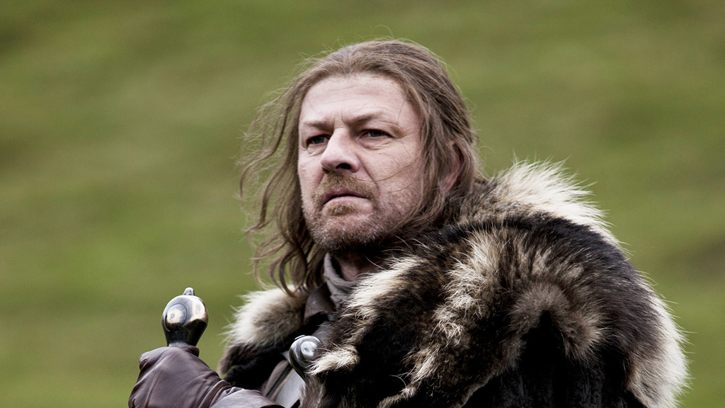 "Ned Stark's motto: ""Winter is coming."""