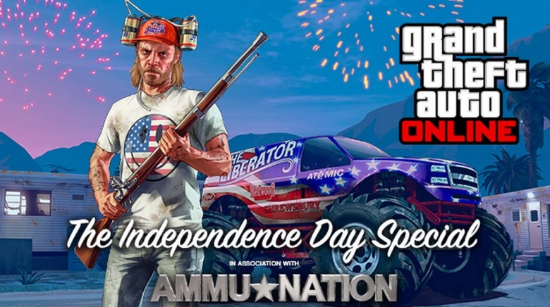 Grand Theft Auto Online makes the Fourth of July special.
