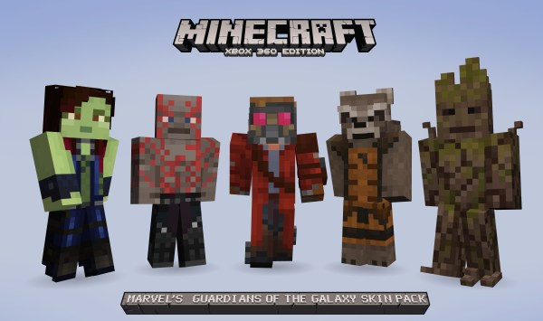 Guardians of the Galaxy skins for Minecraft.