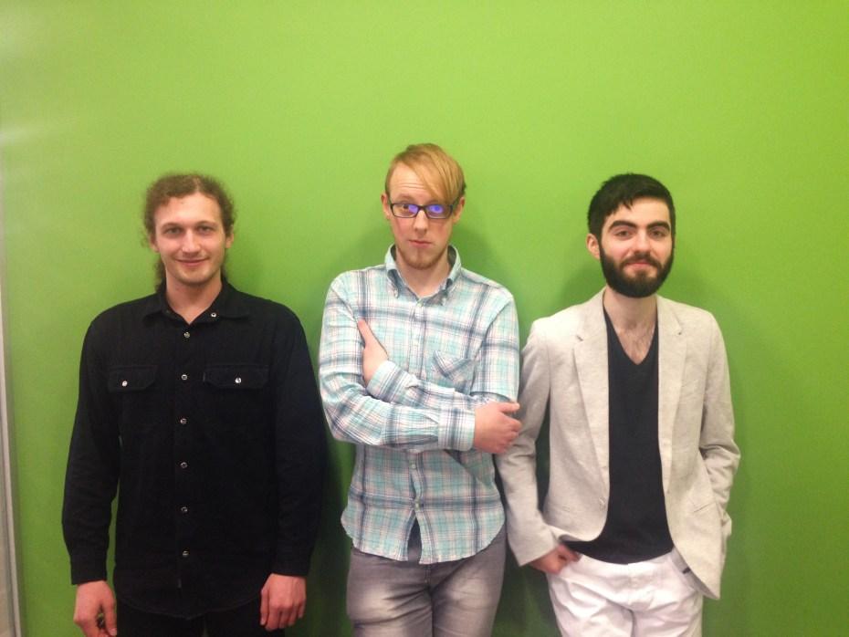 Left to right: Denys Budelkov, Ivan Murzak and Artur Kiulian