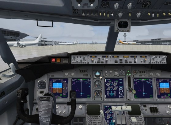 Microsoft Flight Simulator X cockpit view