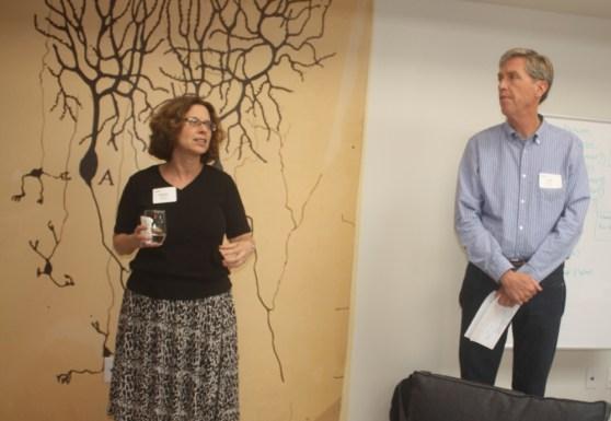 Numenta cofounders Donna Dubinsky and Jeff Hawkins