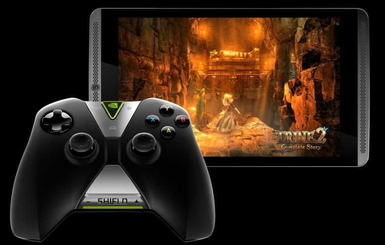 Nvidia Shield Tablet and Shield Controller.