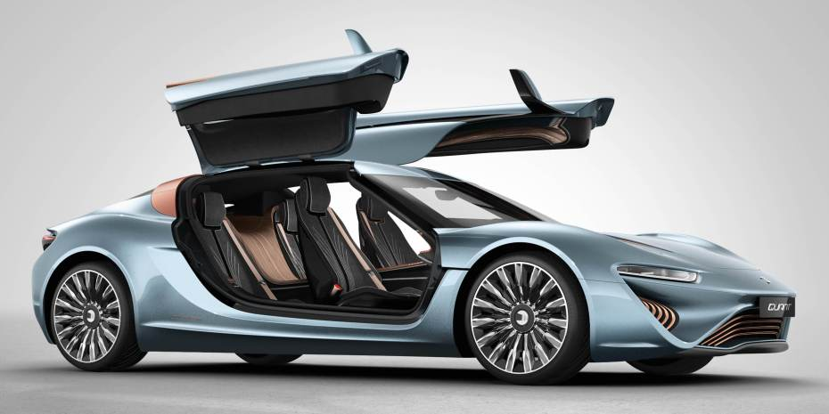 Gull-wing doors give driver and passengers alike plenty of room.