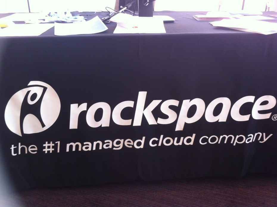 "Rackspace's new ""managed cloud"" branding was all over company marketing materials at Rackspace's Solve conference in San Francisco on July 28."