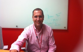 New Rackspace chief executive Taylor Rhodes at the company's San Francisco office on July 29.
