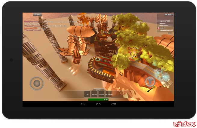 Roblox on Android tablet