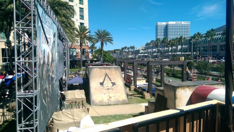 Ubisoft invited gamers to test their parkour skills on the Assassin's Creed Experience obstacle course.
