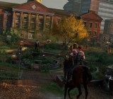 Joel and Ellie on horseback in The Last of Us Remastered.
