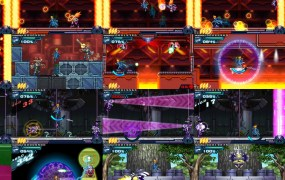 Screenshots from Gunvolt.