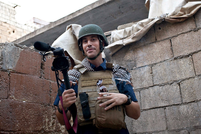 Journalist James Foley in Iraq.