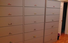 3 x 6 tiered medical filing cabinet system_