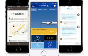 Three of the apps using Uber's API.