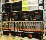 Old-school storage: EMC boxes.