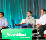 (Left to right) Moderator- Jonathan Sills (Battery Ventures), Chris Erickson (Apartment List), Adam Marchick (Kahuna) at GrowthBeat 2014