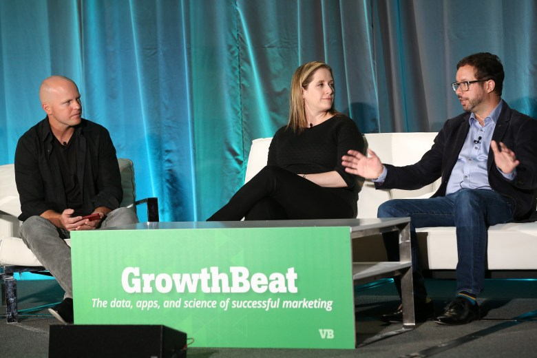 At GrowthBeat 2014: VentureBeat's John Koetsier, TripIt's Elisa Haidt, Salesforce's Gordon Evans